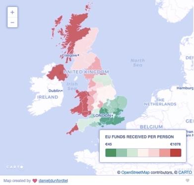 EU funding map