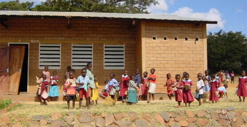 Malawi school children small