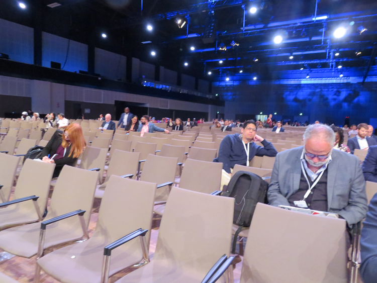 Absence of people in IGF 2019 Main Hall for High Level Session on Inclusion