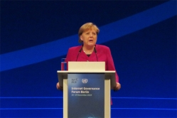 Angela Merkel in IGF 2019 Opening Ceremony