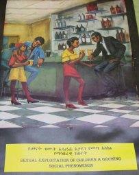 Poster about sexual exploitation of children, Ethiopia, 2002