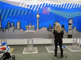 Artwork of Berlin made in tape, 25th November