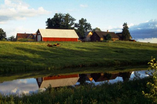 A farm near Tartu in Estonia in the mid-1990s