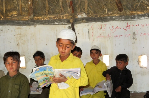Boys in rural school in Tharparkar